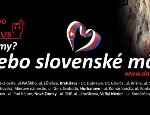 Nech sa slovenské mäso stane bežnou potravinou!